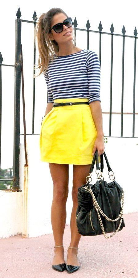 What To Wear With A Yellow Skirt 2017 | FashionTasty.com