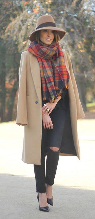 How To Wear A Plaid Scarf With A Coat 2021
