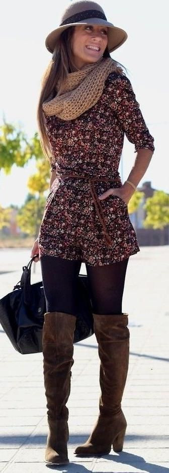 10 Ways To Wear Suede Knee High Boots With Scarves 2020