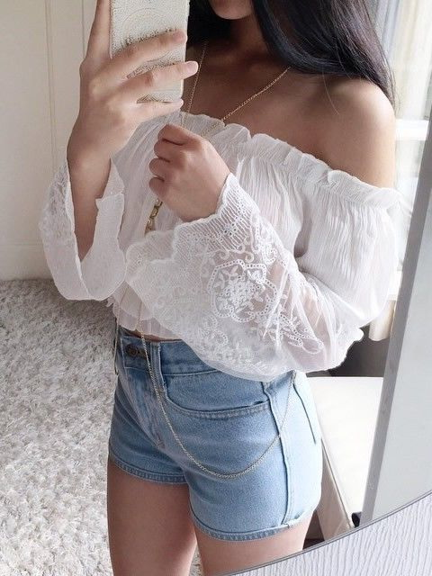 Hottest Tops, Crop Tops And Blouses - 20 Outfit Ideas 2019