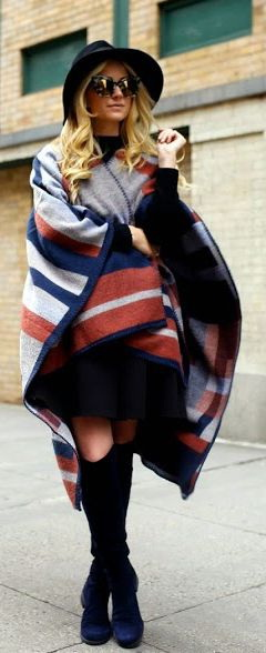 How To Wear A Poncho Or Cape This Season 2019