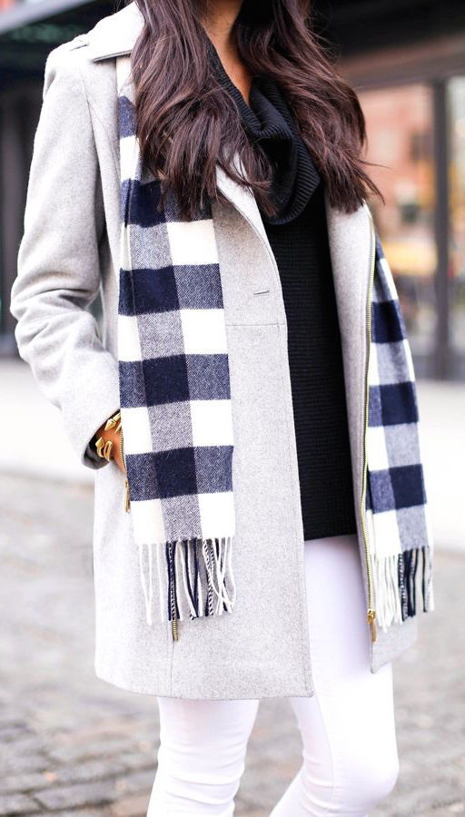 How To Wear A Plaid Scarf With A Coat 2020