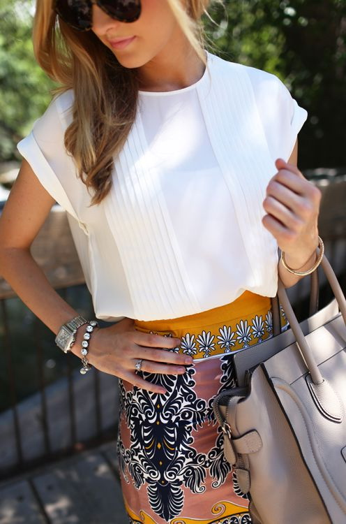 Printed Skirts Outfit Ideas 2020