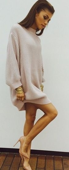 588bdc5457c How To Wear A Knit Sweater Dress 2019