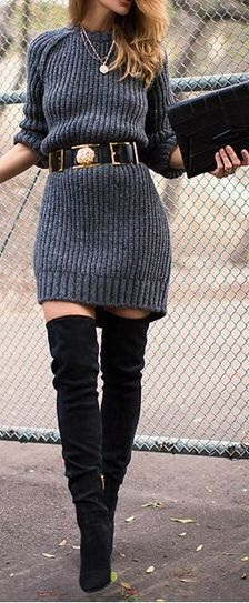 How To Wear A Knit Sweater Dress 2021