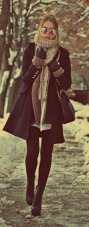 How to Wear a Winter Scarf With A Coat 2021