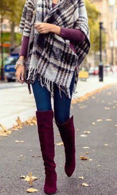10 Ways To Wear Suede Knee High Boots With Scarves 2021