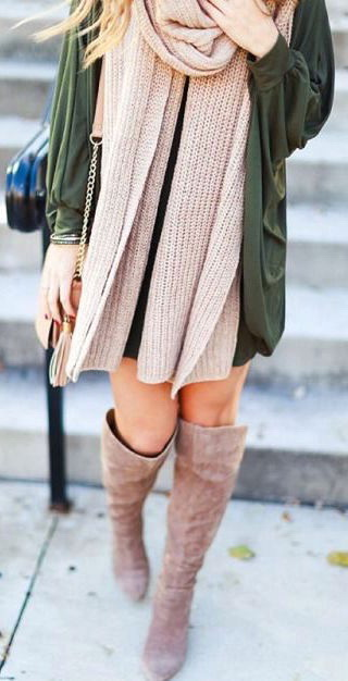 How To Wear Suede Over The Knee Boots 2021