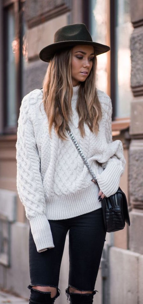 Cable Knit Sweaters Outfit Ideas 2020