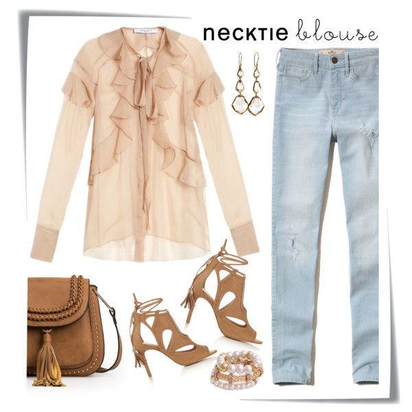 Awesome Ways To Wear Neck Tie Blouses 2021