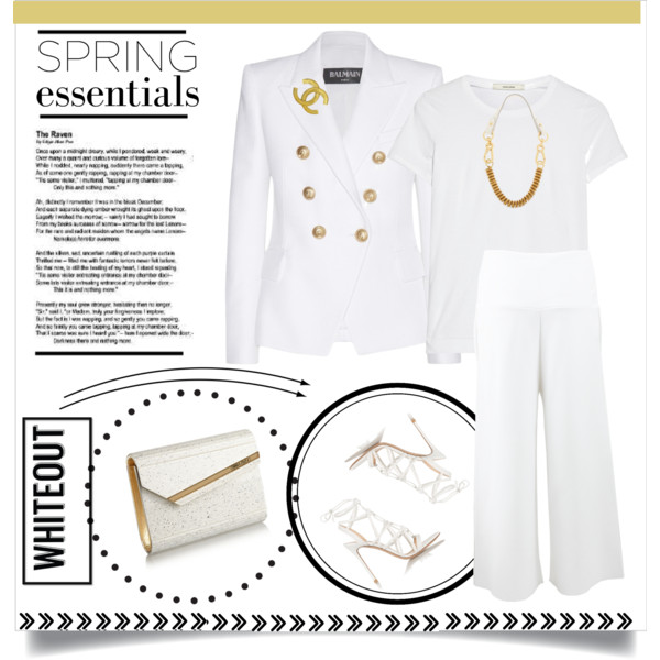 All White Outfits With Blazer For Women 2019