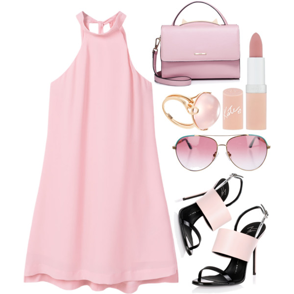 Peach color dresses sandals