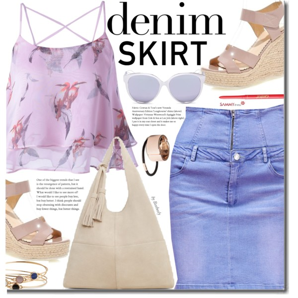 Denim Skirts Outfit Ideas To Copy This Year 2021