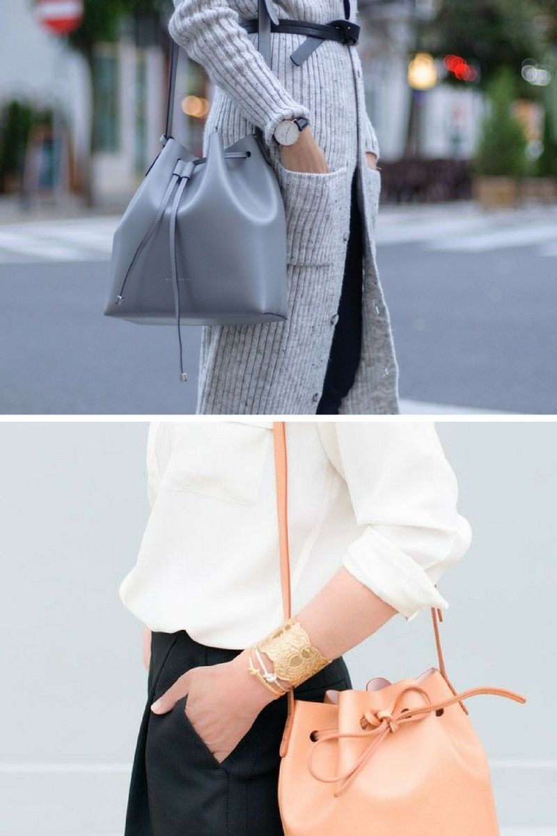how to wear a bucket bag