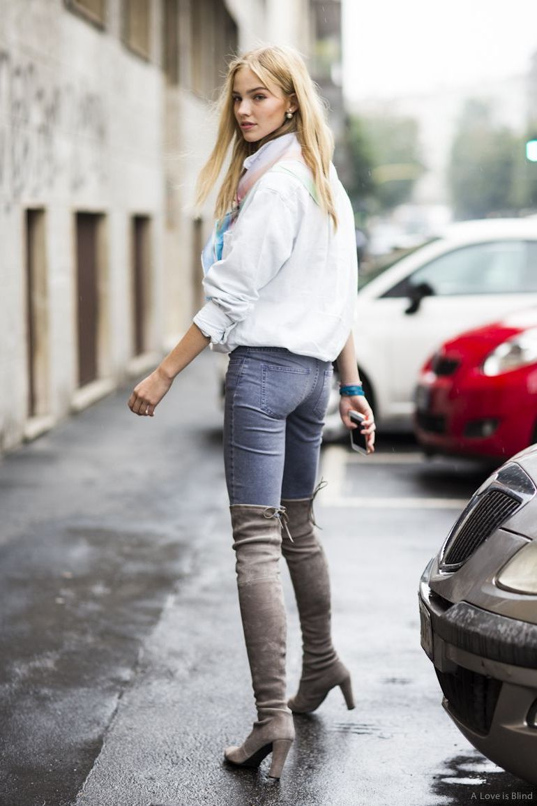 Over The Knee Boots Sexy Ways To Wear Them Now 2020