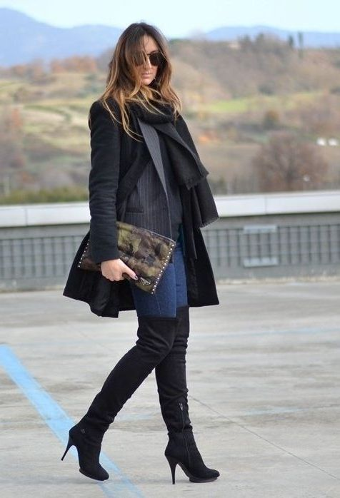 Over The Knee Boots Sexy Ways To Wear Them Now 2019